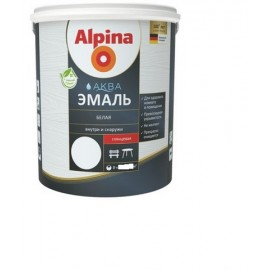 Эмаль ALPINA Аква эмаль 0.9л белая шелк-матов Беларусь