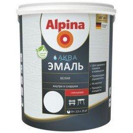 Эмаль ALPINA Аква эмаль 2.5л белая шелк-матов Беларусь