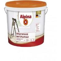 Краска Alpina 0.9л Практичная интерьерная белая  Беларусь